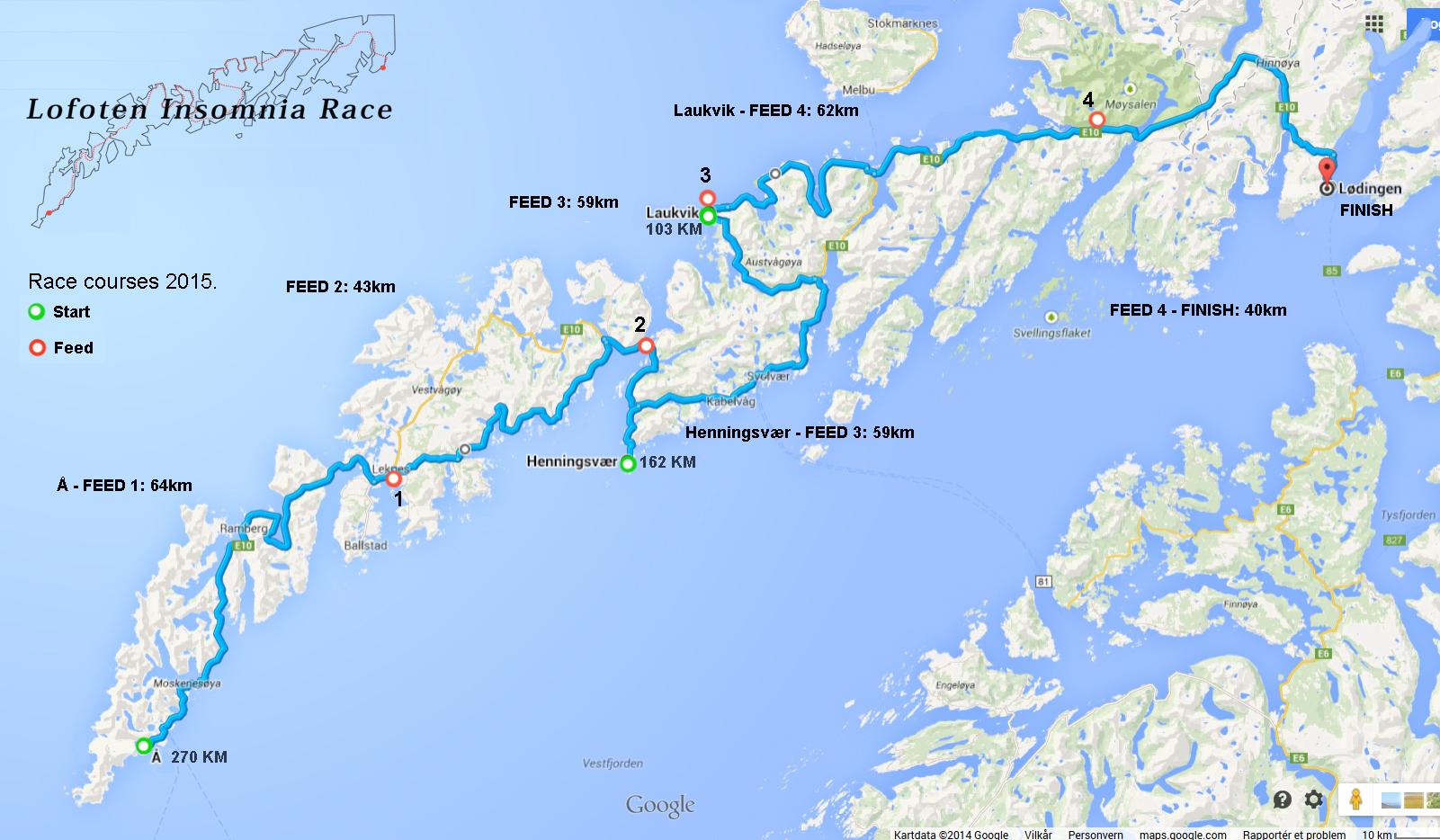 kart over lofoten Rekordpåmelding til Lofoten Insomnia   nattsykling i nye løyper  kart over lofoten